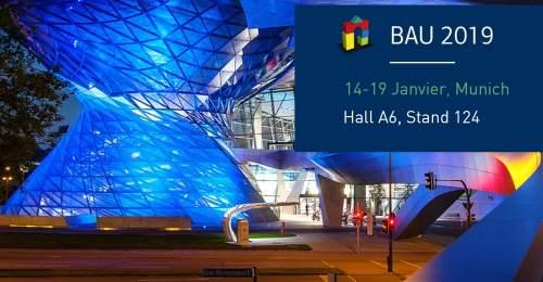 Baniere de presentation du salon BAU